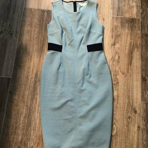 Boden blue with black accent dress